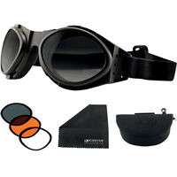 Motorcycle goggles - Bobster 3 sets of lenses