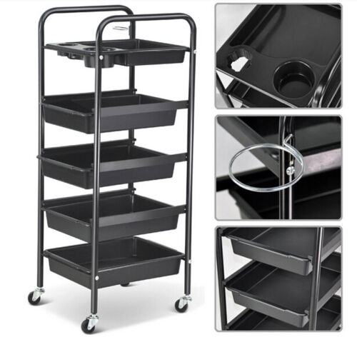 Salon Spa Trolley Storage Cart Coloring Beauty Hair Dryer...