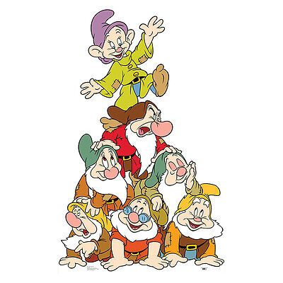 7 DWARFS Disney Snow White Dwarves Group CARDBOARD CUTOUT Standee Standup Poster](Standup Cutouts)