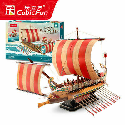3D paper puzzle model building game roman warship Phoenicia ship boat baby toy](Baby Games Baby)