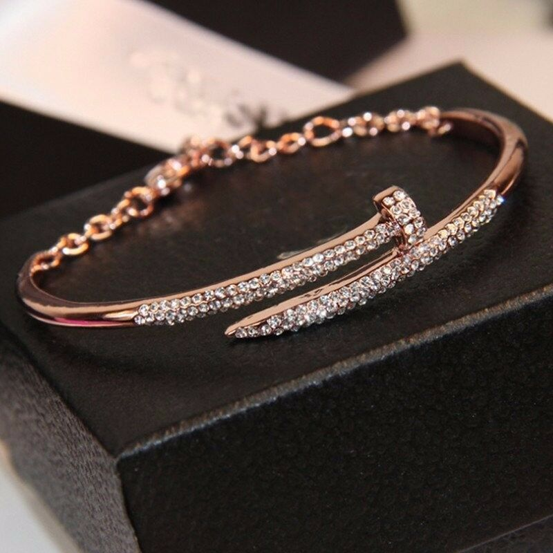 Shinny Rhinestones Nail Bracelets for Women