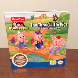 """""""FISHER PRICE"""" THE THREE LITTLE PIGS BOOK AND CD......NEW!"""