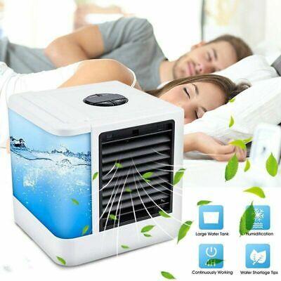 Air Cooler, Mini Portable Air Conditioner Fan mini Evaporative Air Humidifier UK