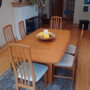 Teak Dining Room Set With China Cabinet