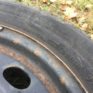 """Set of 4 x 16"""" Winter Rims with used X-ICE 205/55R16"""