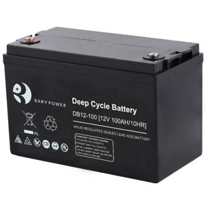 NEW*AGM 100ahr DEEP CYCLE SOLAR BATTERIES *NEW