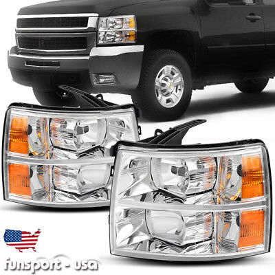 for 2007-2014 Chevy Silverado 1500 2500 3500 Headlights Headlamp Pair Left+Right for sale  USA