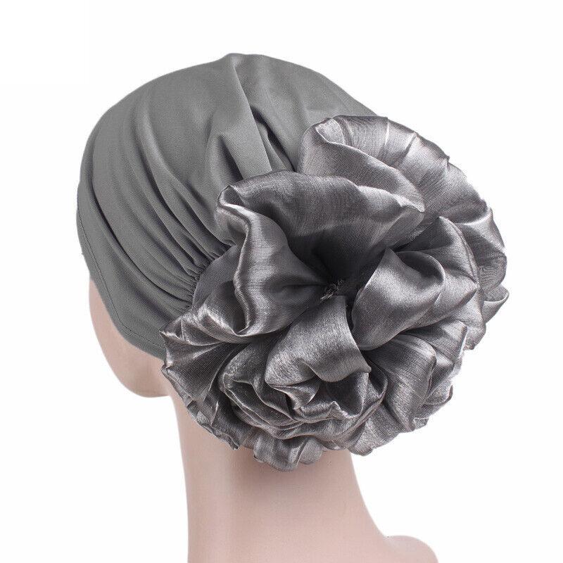 Women Ladies Muslim Hat Turban Cancer Chemo Hair Loss Cap Hijab Flower Head Wrap Clothing, Shoes & Accessories