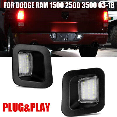 LED License Plate Rear Bumper Lights Lamps for Dodge Ram 1500 2500 3500 2003-18