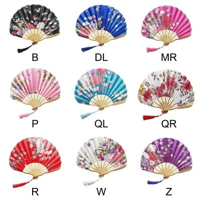 Chinese Style Hand Held Fan Bamboo Paper Folding Fan Party Wedding Pocket - Hand Held Paper Fans