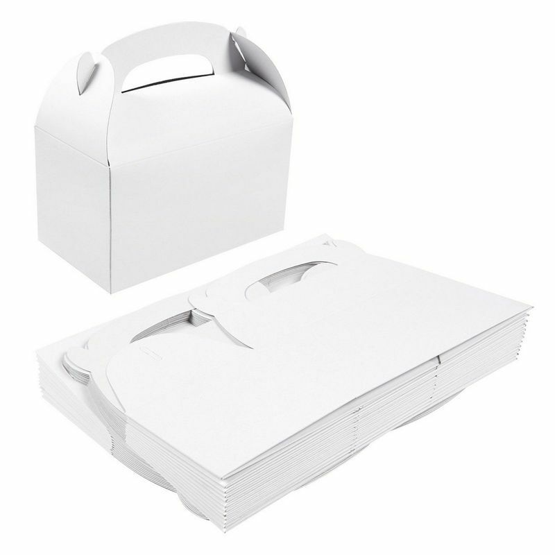 24 Paper Treat Boxes for Favor Goodie Birthday Party Gift Candy Box 6.2x3.5x3.5
