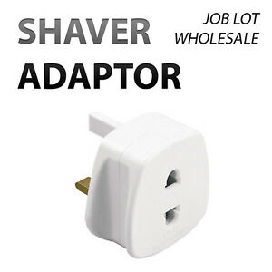 WHOLESALE-2-PIN-TO-UK-3-PIN-ELECTRIC-SHAVER-TOOTHBRUSH-PLUG-ADAPTOR-BS5733-1A