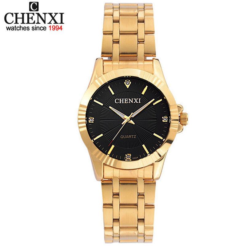 $11.68 - Top Fashion Brand Luxury CHENXI Womens Watch Golden Strap Waterproof Female Gift