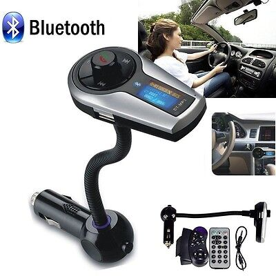 Car Kit MP3 Player Wireless Bluetooth FM Transmitter Modulator USB SD LCD Remote on Rummage