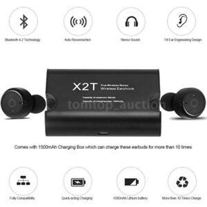 X2T True Wireless Bluetooth Stereo Headset Earphone Ecouteurs