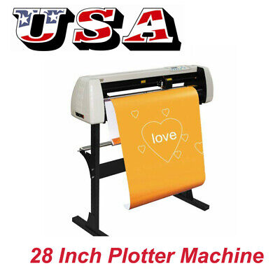 28 720mm Paper Feed Vinyl Cutter Plotter Sign Cutting Plotter Machine W Stand