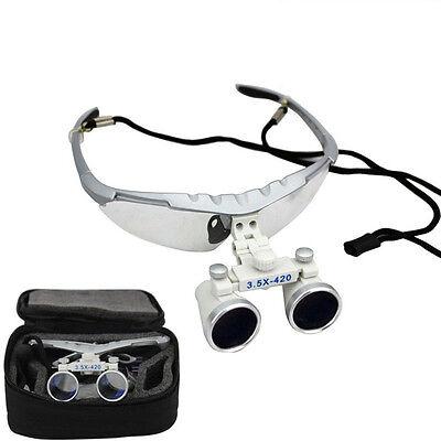 3.5x420mm Dental Binocular Loupes Magnifier Lens Glasses Surgical Titaniumni-al