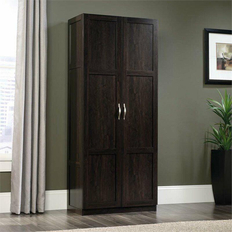 Sauder Select Engineered Wood Storage Cabinet in Cinnamon Cherry