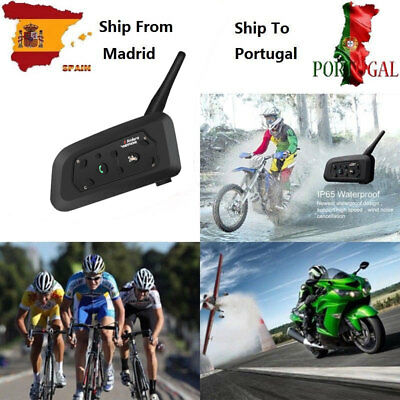 Intercomunicador Interphone Bluetooth Casco Auriculares Moto Interfono V6-1200M