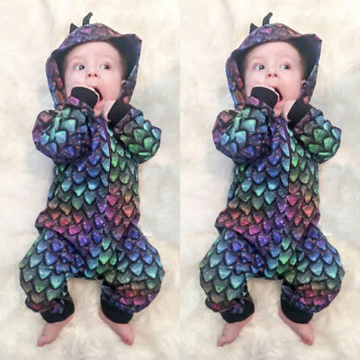 USA Newborn Infant Baby Boy Girl Romper Bodysuit Jumpsuit Zipper Outfits Clothes