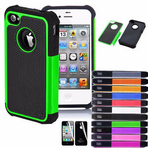 Hybrid Rugged Rubber Matte Hard Case Cover Skin for Apple iPhone