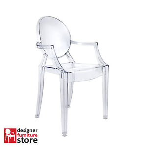 Replica Philippe Starck Louis Ghost Armchair Transparent Clear