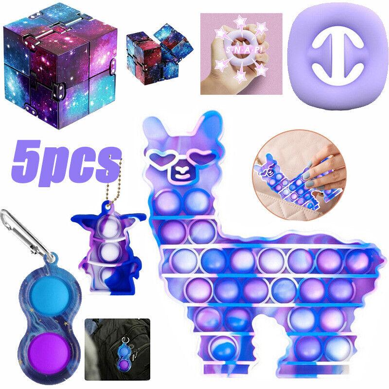 5Pack/Set Bundle Stress Relief ADHD Autism Kids Gifts Fidget Toys Sensory Tools