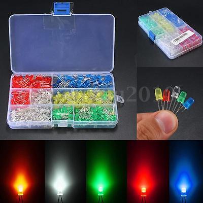 500pcs 3mm5mm Led Light Whiteyellowredbluegreen Assortment Diodes Kit Diy