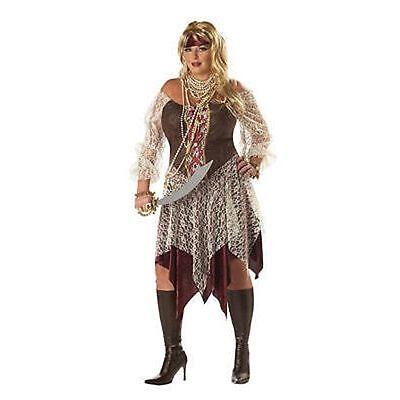 Plus Size Women Pirate Costume (Costume 2pc South Seas Siren Pirate Women Plus Size 16-22 One Size)