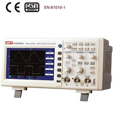 Uni-t Utd2052cl Digital Oscilloscope 2ch 50mhz Scopemeter 500mss Usb Connected