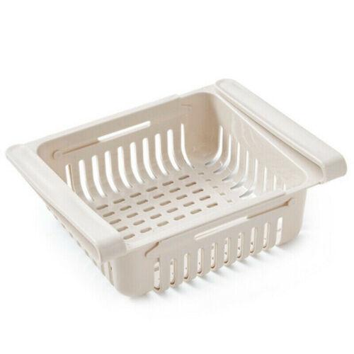 Kitchen Freezer Fridge Slide Storage Box Space Saver Organizer Holder Cube Rack