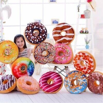 New Plush Soft Donut Cushion Pillow Doughnut Food Seat Pillo
