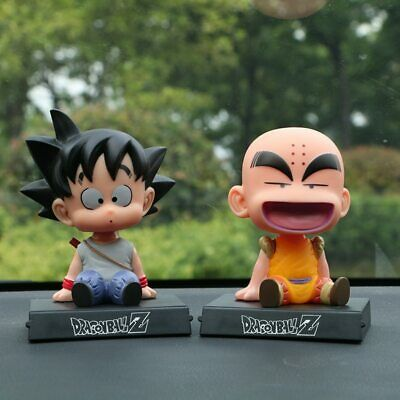 12CM Dragon Ball Z Goku Krillin Action Figure Car Decoration Shaking Head Doll
