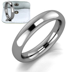 Mens-Womens-Ladies-Titanium-Comfort-Fit-Plain-Wedding-Rings-Comfort-Band