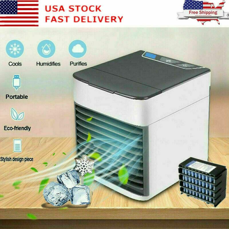 Portable Mini Air Conditioner Cool Cooling Bedroom Artic Cooler USB Fan 2021