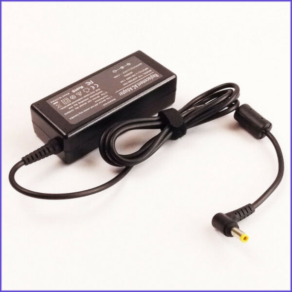 Acer, Asus, Lenovo, Toshiba, Fujitsu & others laptop power adapter, 90W 4.5A 19-20V 5.5mm connector.