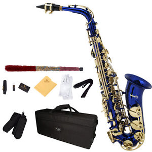 Mendini Eb Alto Saxophone Sax w/ CareKit ~Gold Silver Blue Green Purple Red