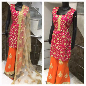 Indian Party wear straight suits, Plazzo for sale