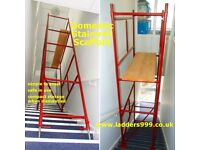 DIY stairwell access scaffold tower