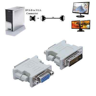 DVI-D 24+1 Male To VGA 15 Pin Female Converter Adapter for LCD HDTV Screen CA