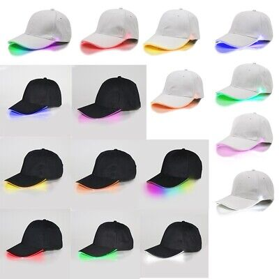 Cool Adjustable LED Lighted Up Hat Glow Party Baseball Hip-Hop Golf Dance Cap - Led Lighted Hats