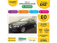 Blue AUDI A4 SALOON 1.8 2.0 TDI Diesel SPORT S LINE FROM £62 PER WEEK!