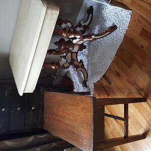 Antique furniture table dressers lamps