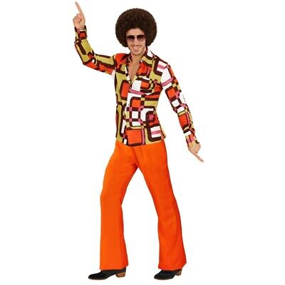 HLAGHOSE orange + HEMD tubes - Herren Kostüm Schlagermove (Kostüm Orange)
