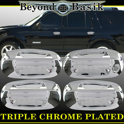 (EXPEDITION NAVIGATOR 2003-17 Chrome Door Handle Covers WithOut Psgr Keyhole Trim)