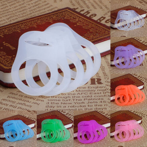 5Pcs Silicone Button Baby Dummy Pacifier Holder Clip Adapter