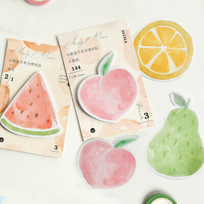 Creative Fruit Shape Notepad Memo Sticky Note Pads Paper Bookmark Message Label