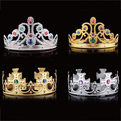 Prince King Crown Queen Crown Gift Cosplay Christmas Headdress Party Decoration