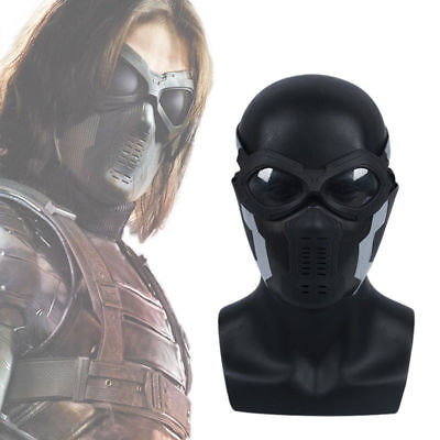 Captain America 3 Winter Soldier Buck Mask+Glass Buchanan/ Barnes Helmet Cosplay