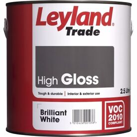 Leyland Trade High Gloss 2.5L AND Undercoat Unopened £15 each in shops